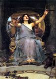 Waterhouse, John William: Circe Offering the Cup to Ulysses. Fine Art Print/Poster. Sizes: A4/A3/A2/A1 (00833)